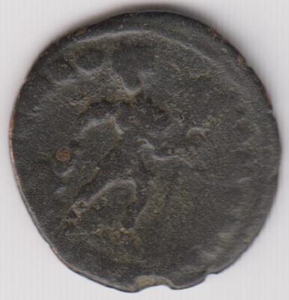 AE3 de Valentiniano I tipo GLORIA ROMANORVM. Emperador arrastrando a cautivo a dcha. Ir238b