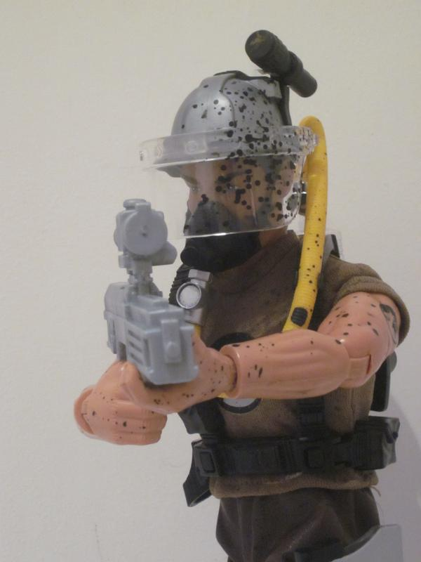 My Action Man Driller Extreme showing off his new  HK G11. IMG_4551