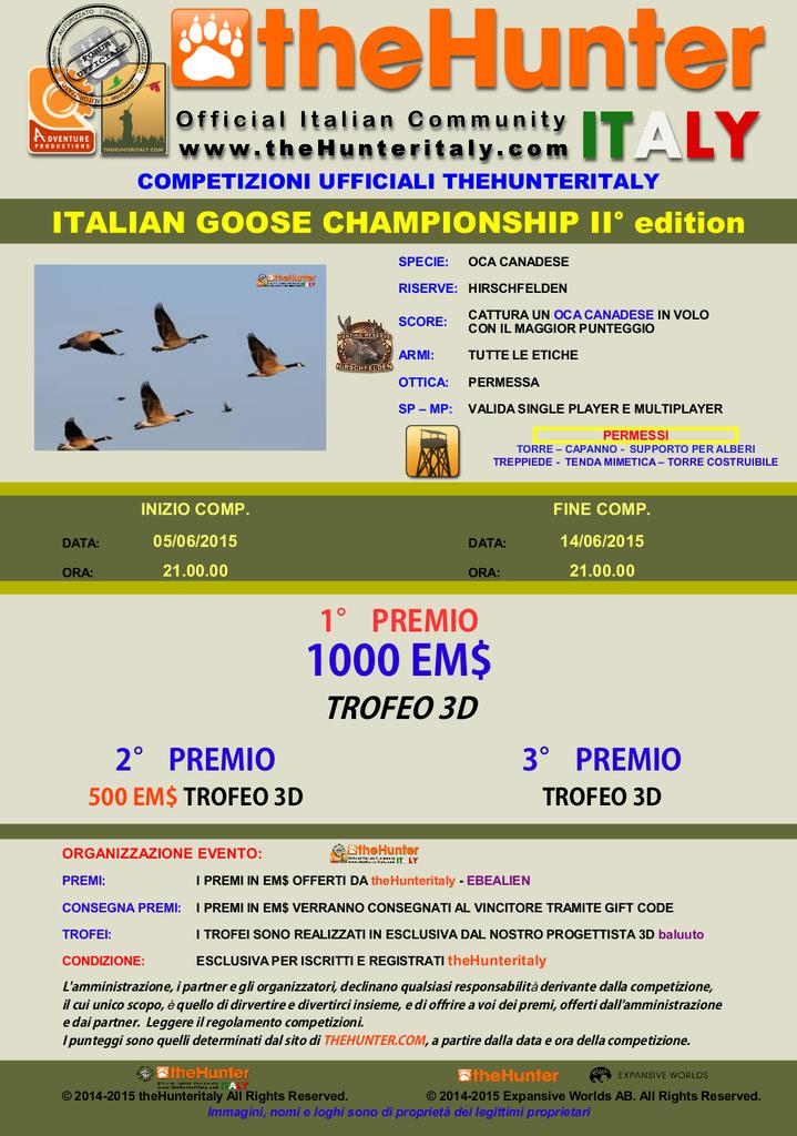 [CONCLUSA] Competizioni ufficiali thehunteritaly - Italian Goose Championship II edizione - OCA_CANADESE_II_EDITION_06_06_2015