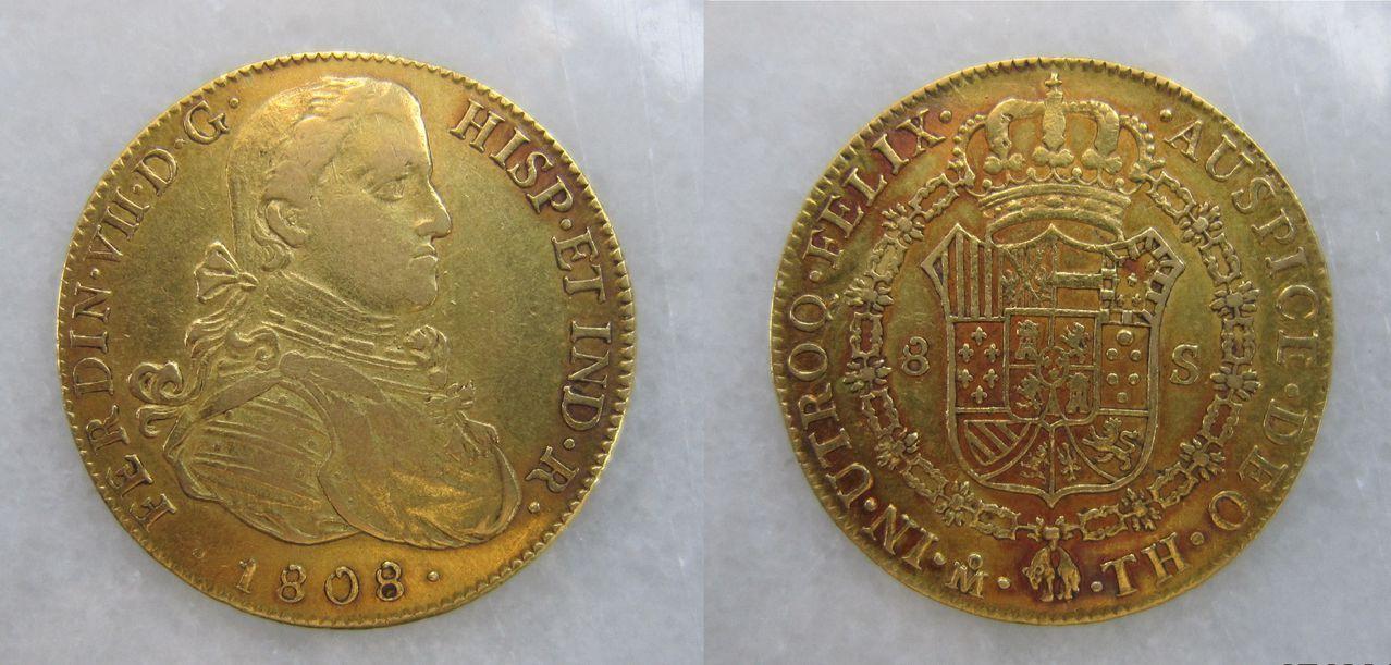 8 escudos 1808 México. Fernando VII. 8_escudos_M_xico_1808_Fernando_VII