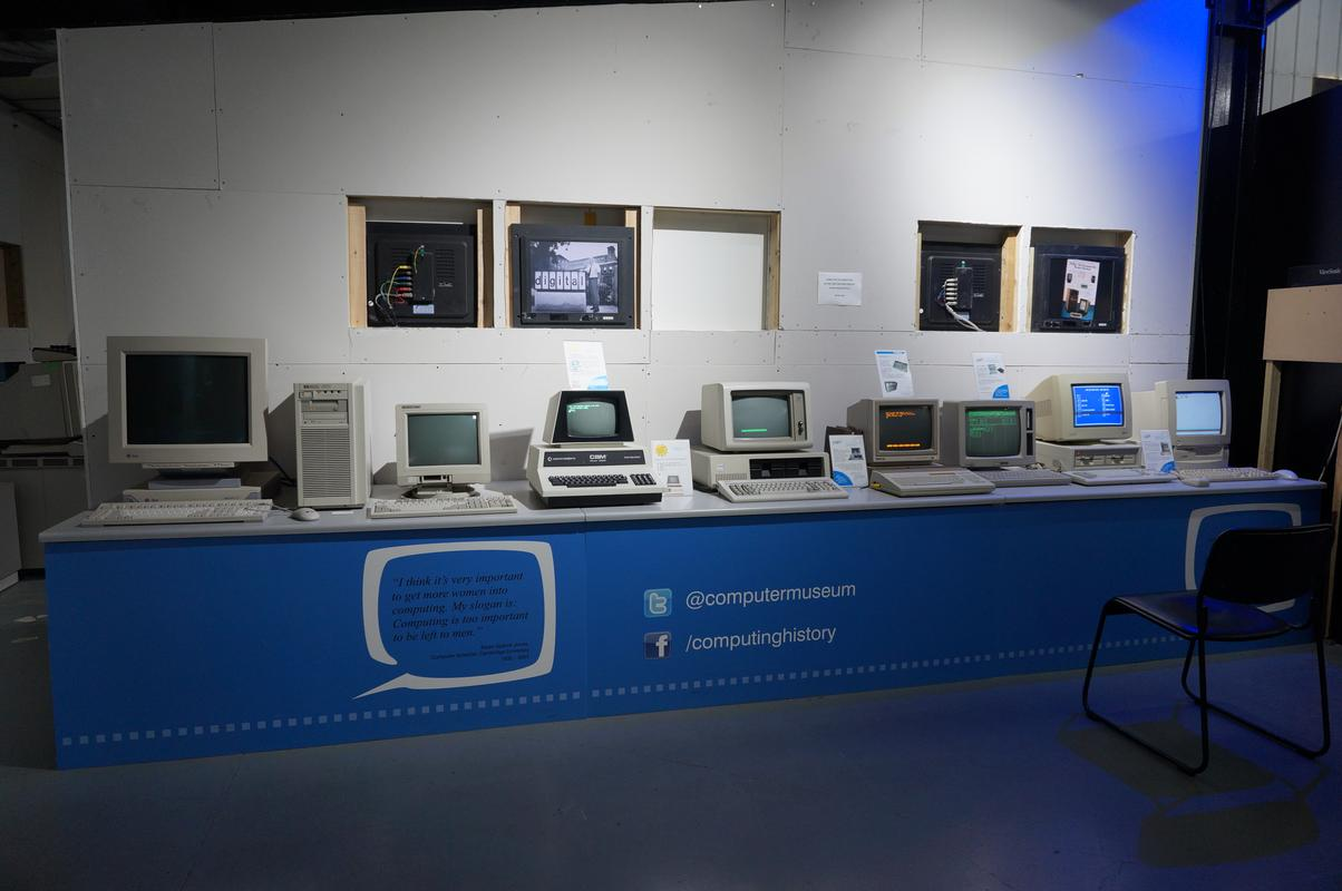 My MAM visiting  Cambridge Computer History Museum. A21404_BA-2_E41-473_D-9879-3_E215_CFC5899
