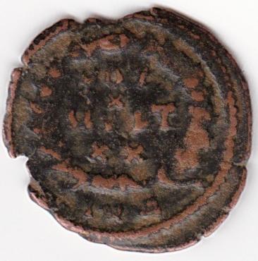AE4 de Teodosio I. VOT X MVLT XX. Antioquía IR74_B