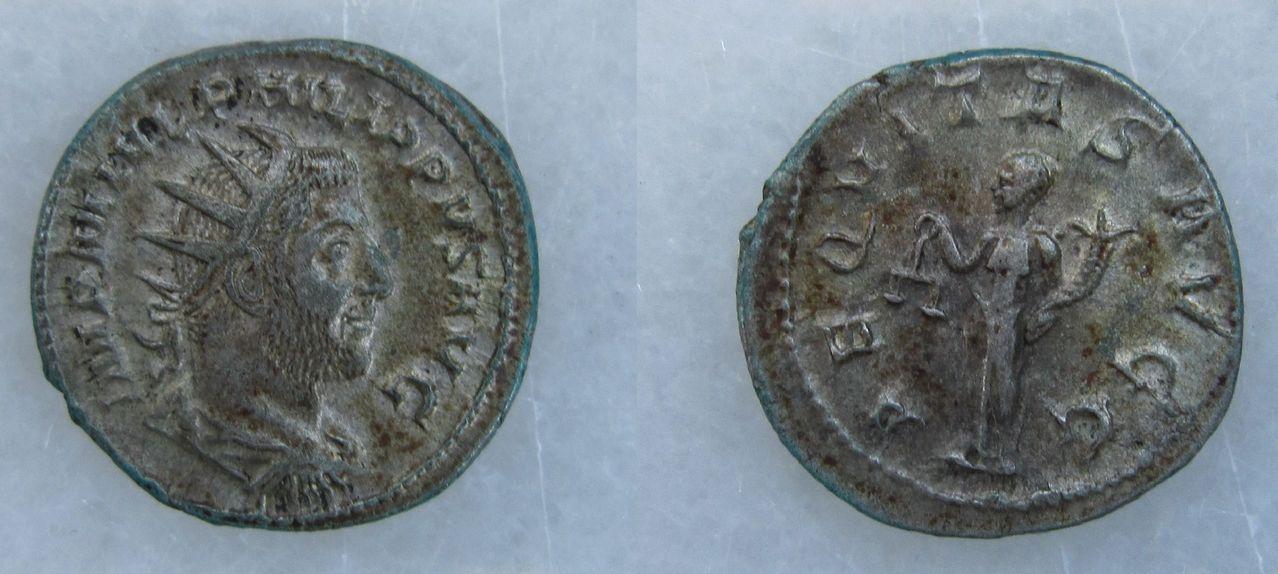 Antoniniano de Filipo I (el árabe). AEQVITAS AVGG. Roma Antoniniano_Filipo_I_AEQVITAS_AVGG_2