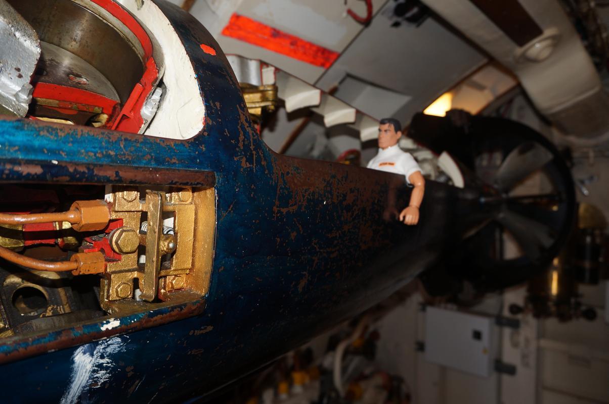 My Mam going through the HMS Alliance, the only remaining WW2 era submarine. AA0627_C3-_D0_AC-44_B1-_B3_B1-322_F5930_D25_A