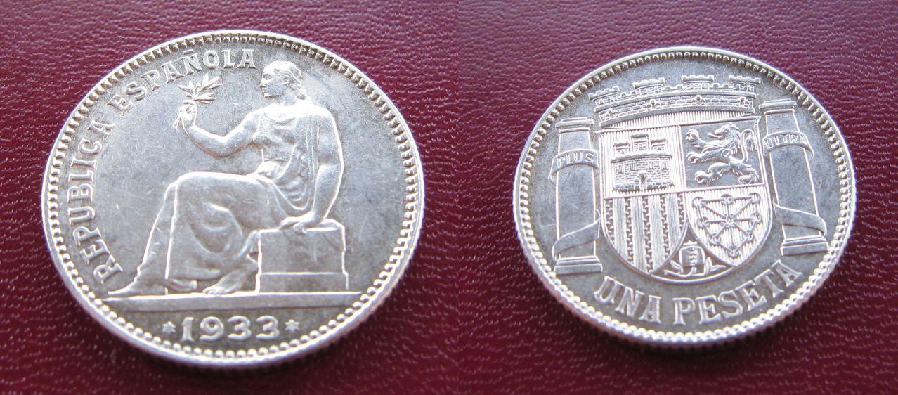 1 peseta 1933. II República Española. Madrid 1_peseta_1933_II_Rep_blica_Espa_ola_FOTO2