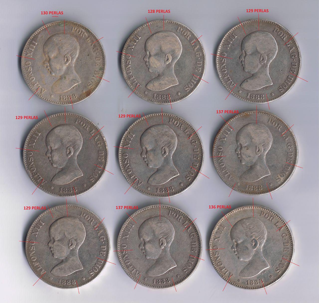 5 pesetas 1888 Alfonso XIII - Página 3 Duros_1888_anverso