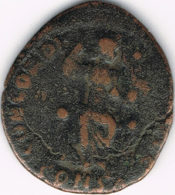 AE3 de Teodosio II. CONCORDIA AVGG. Constantinopla IR11_B