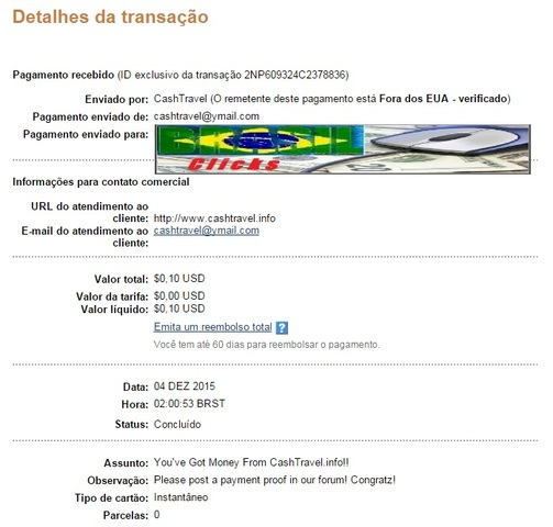 2º Pagamento Cash Travel  2_cashtravel