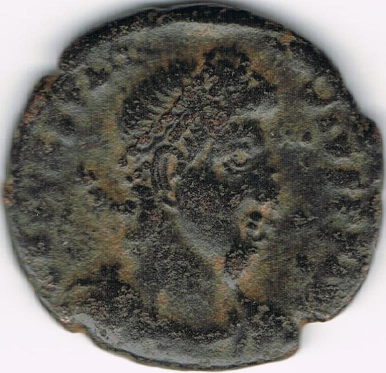 AE4 de Constancio II. FEL TEMP - REPARATIO . Soldado romano alanceando a jinete caído. Antioch. IR40