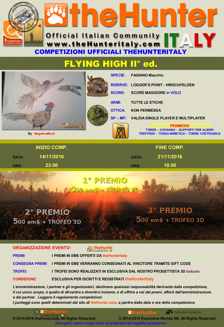 [CONCLUSA] Competizioni ufficiali TheHunteritaly - Flying High II ED - Fagiano FLYING_HIGH_II_edition_fagiano_manifesto