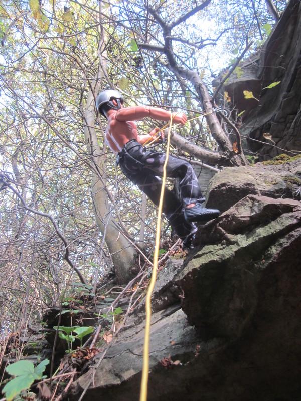 Random Action Man Rock Climbing Abseiling Photos. IMG_4777
