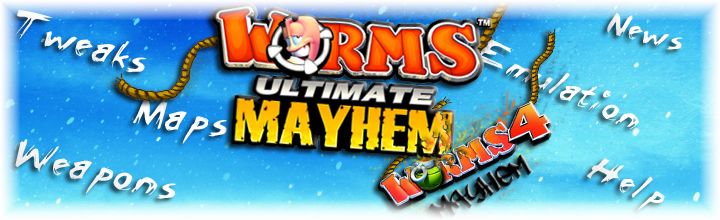 Worms 4 and Ultimate Mayhem tweaking mods