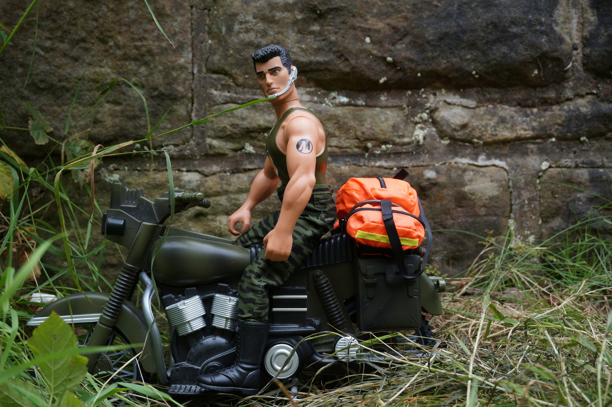Medical rapid response motor biker posing for the camera DSC00242