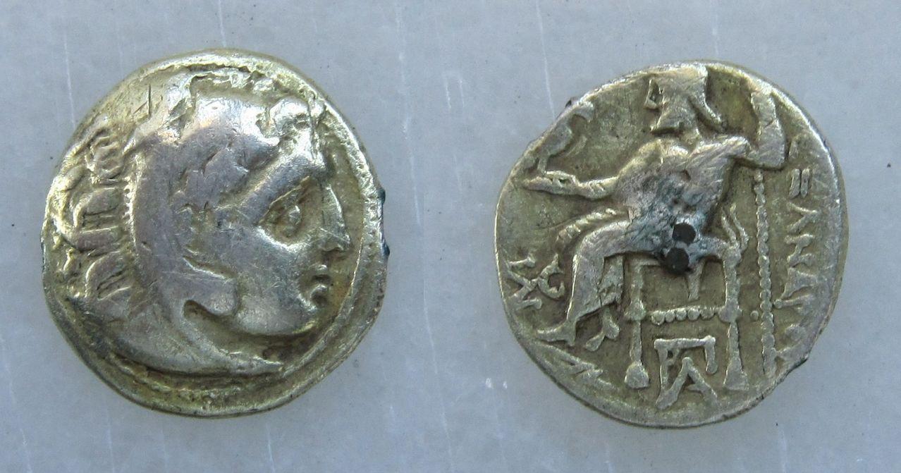 Dracma (póstumo) de Alejandro III Magno. Siglo IV a.C. Dracma_Alejandro_Magno_300_ac