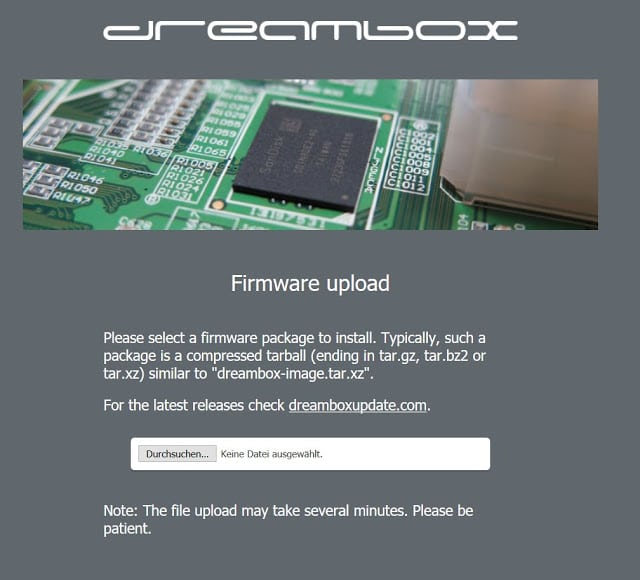 GUiDE: How to flash a firmware on the Dreambox DM 520HD Image