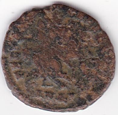 AE4 de Juliano II. FEL TEMP REPARATIO. Soldado romano alanceando a jinete caído. Antioch. Ir264b