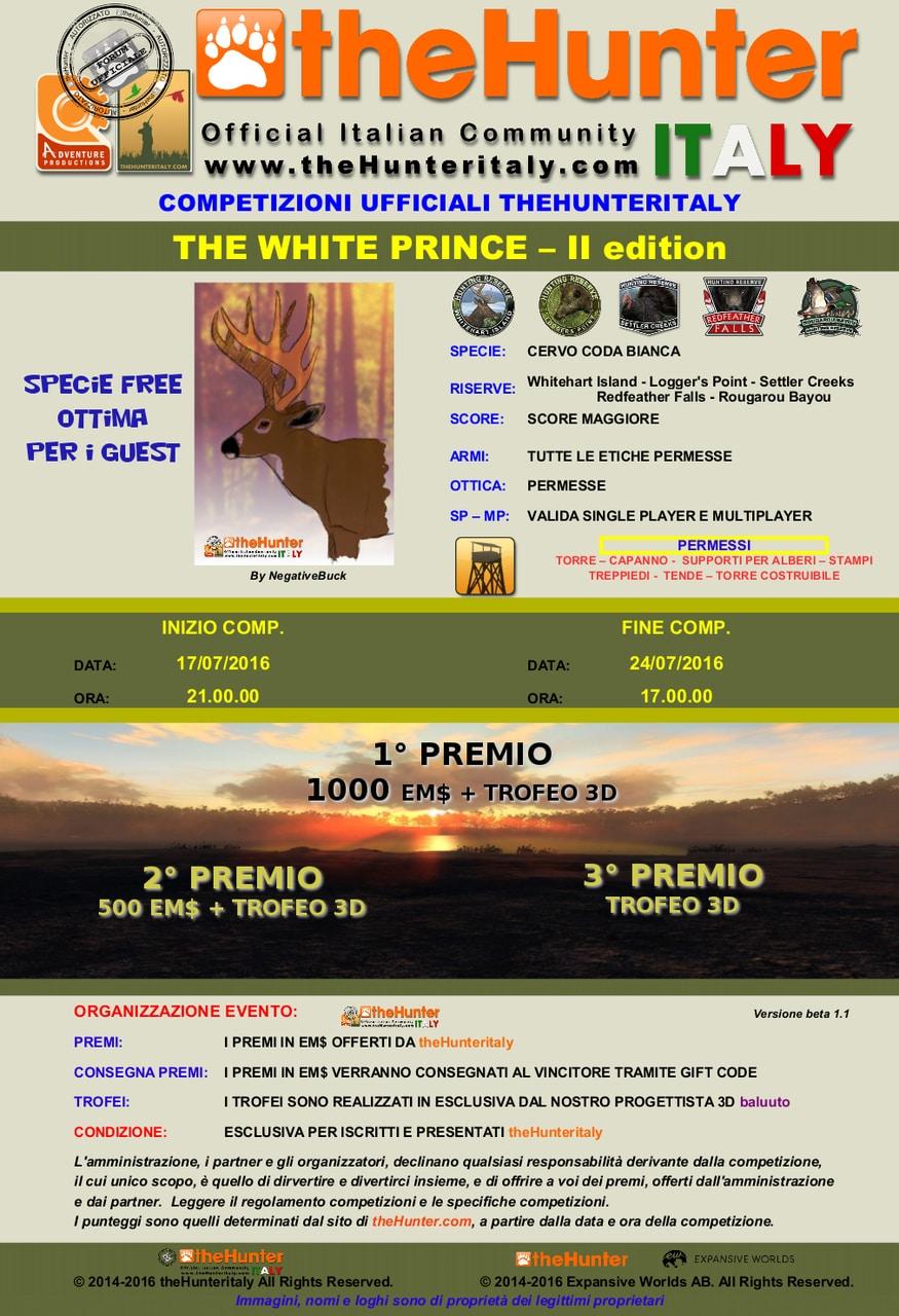 [CONCLUSA] Competizioni ufficiali TheHunteritaly - The White Prince II ED - Cervo Coda Bianca THE_WHITE_PRINCE_II_ED