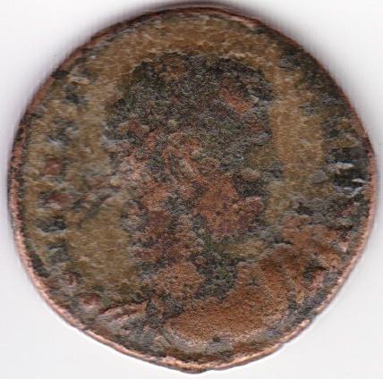 AE3 de Constantino I. GLORIA EXERCITVS. Soldados entre 2 estandartes. IR73_A