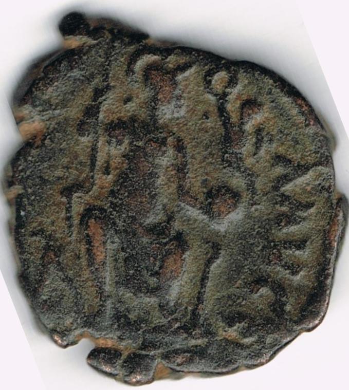 AE3 de Teodosio II. CONCORDIA AVGG. IR23b