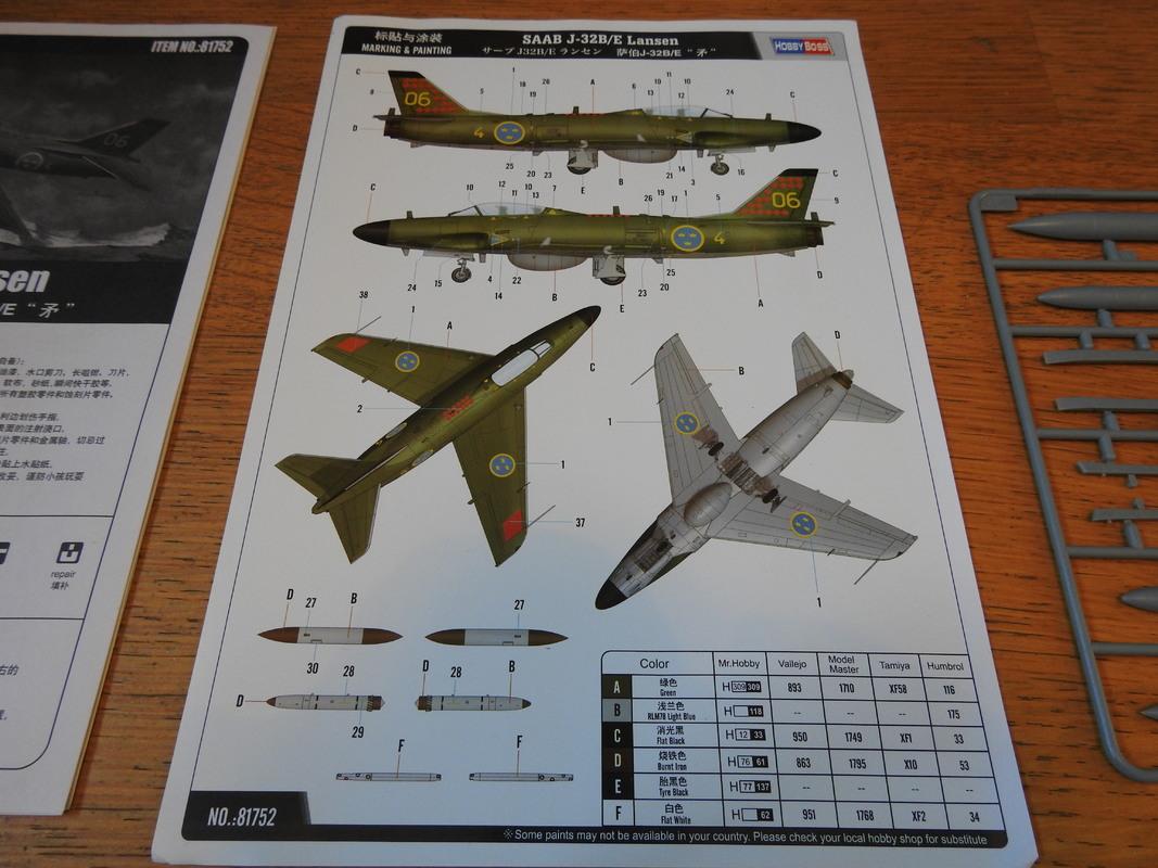 Saab J-32B/E Lansen - HobbyBoss 1:48 DSCN5094