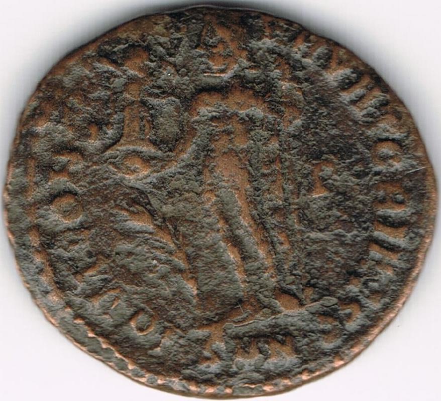 Nummus de Licinio I. IOVI CONSERVATORI AVGG. Júpiter estante a izq. Nicomedia. IR36_B