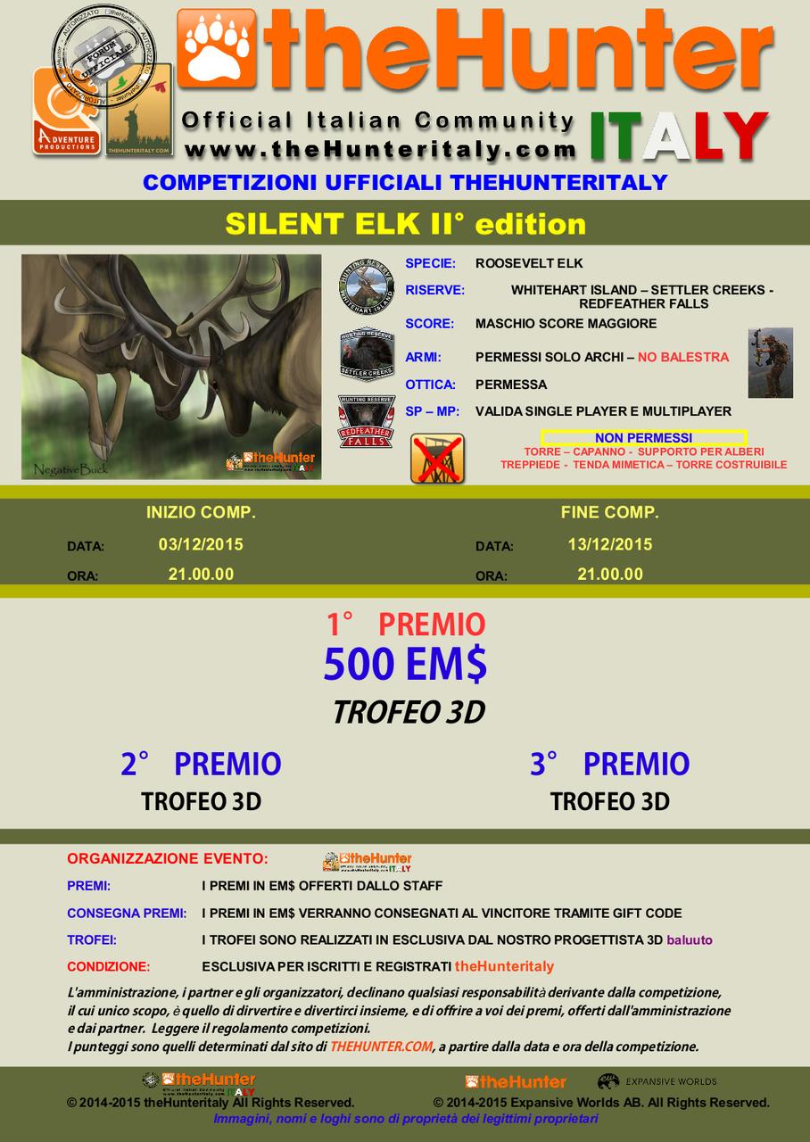 [CONCLUSA] - Competizioni Ufficiali theHunterItaly:  - Silent Elk II edition - Roosevelt Elk TRIS_ELK_II_EDITION_3_12