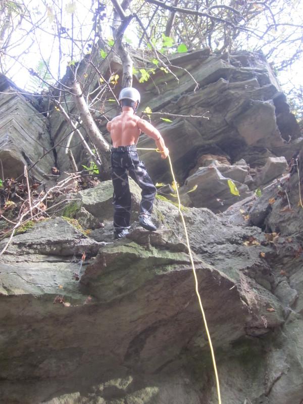 Random Action Man Rock Climbing Abseiling Photos. IMG_4775