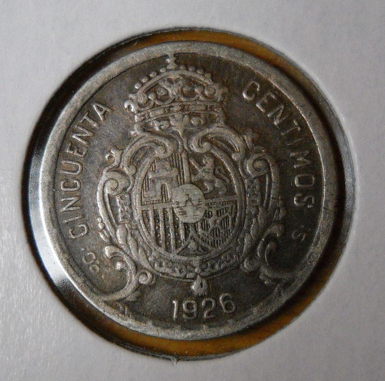 50 centimos 1926 Alfonso XIII  DSCN0043