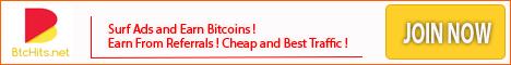 [Con Comprobante] BtcHits - hasta 200 satoshi por clic - minimo 100 satoshi - Pago por FaucetHub Banner