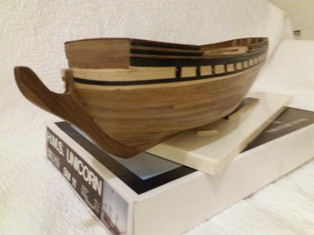 costruzione - Costruzione fregata Unicorn  Prua20171023