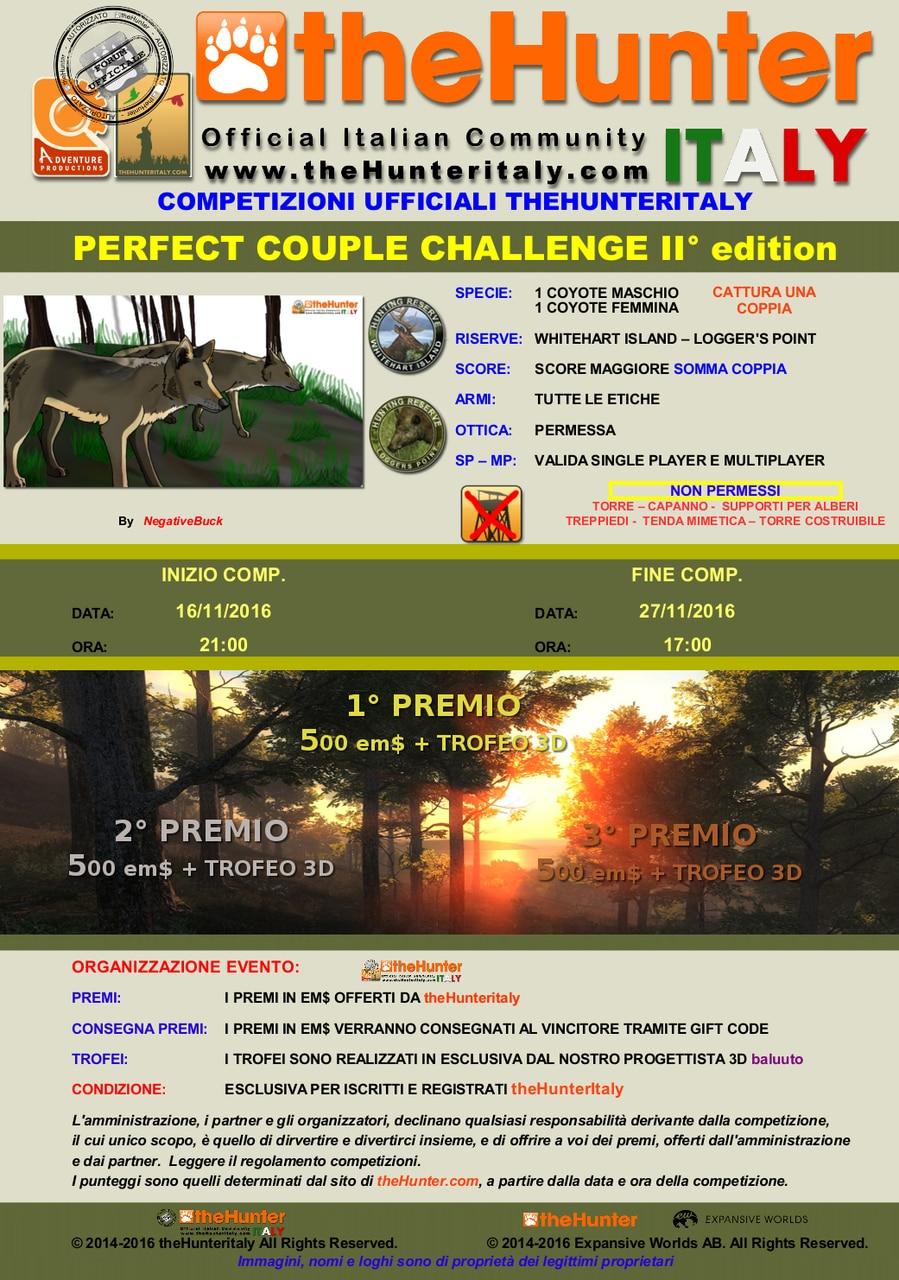 [CONCLUSA] Competizioni Ufficiali theHunterItaly - Perfect Couple challange II ED. - Coyote LOCANDINA_PERFECT_COUPLE_CHALLANGE