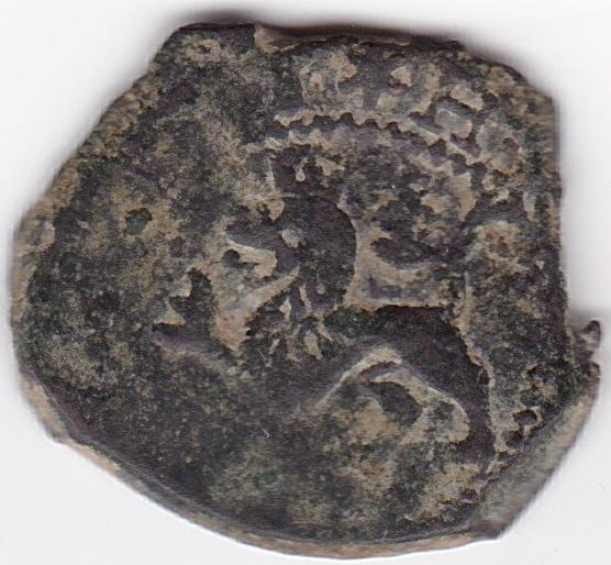 2 Maravedis (ochavo) de Felipe II, Cuenca Es5a