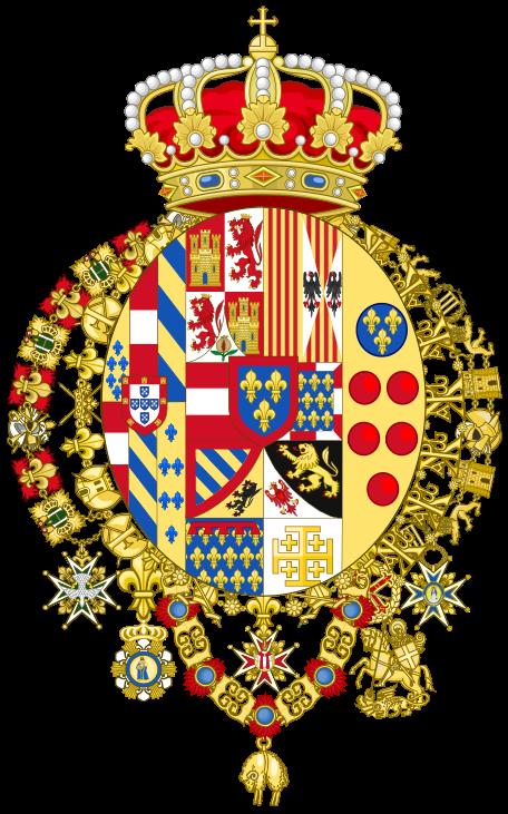 120 Grana 1854, Reino de Nápoles y Sicilia. Escudo_de_armas_de_Fernando_I_de_las_Dos_Sicilia