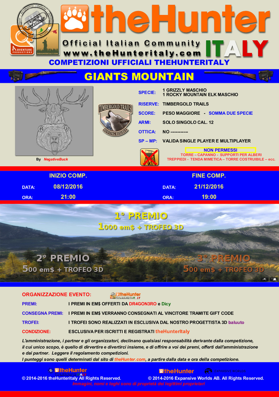 [CONCLUSA] Competizioni ufficiali TheHunteritaly - Giants Mountain - Grizzly + Rocky Mountain Elk GIANTS_MOUNTAINS