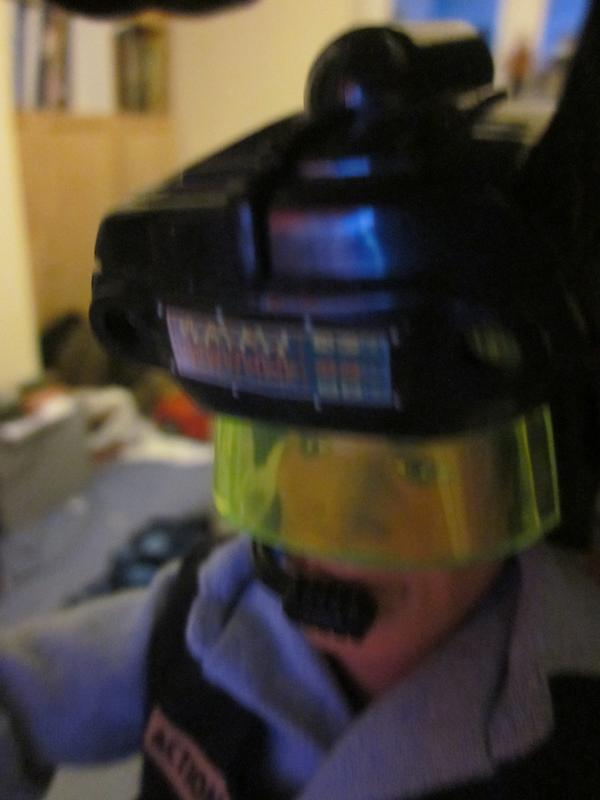 My Action Man playing a Virtual Reality shooting game. (Ackie88) IMG_2207