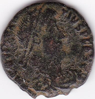 AE4 de Constancio II. FEL TEMP - REPARATIO . Soldado romano alanceando a jinete caído. Cyzicus. IR65_A