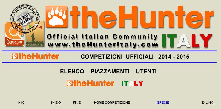 - Elenco Piazzamenti Competizioni theHunter - LOGO_29