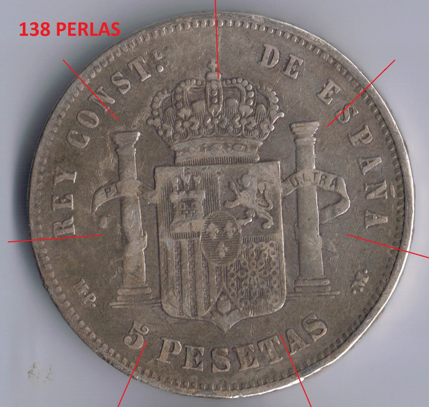 5 pesetas 1888 MPM (*18*88) . Alfonso XIII. 128_perlas_rev
