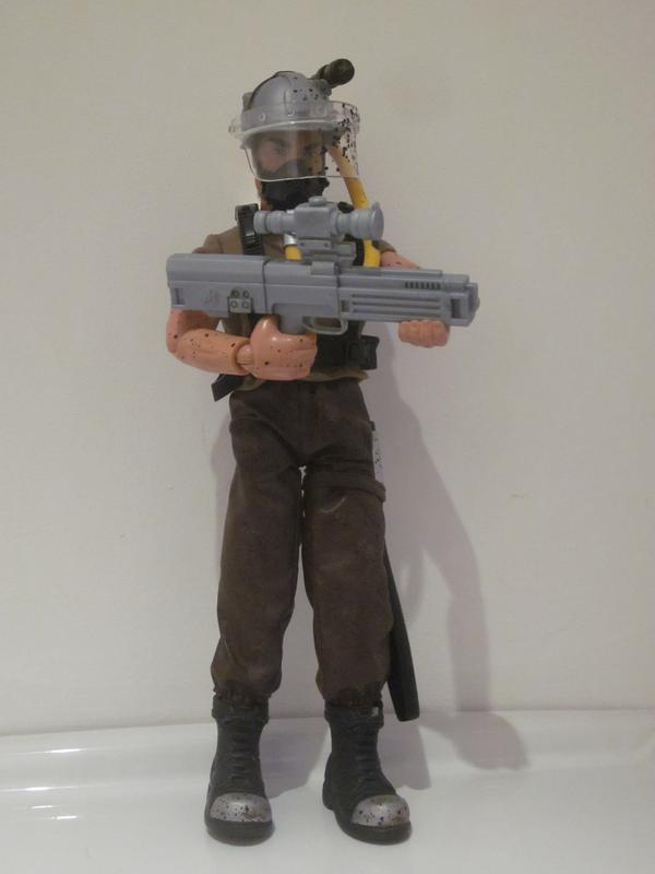 My Action Man Driller Extreme showing off his new  HK G11. IMG_4552