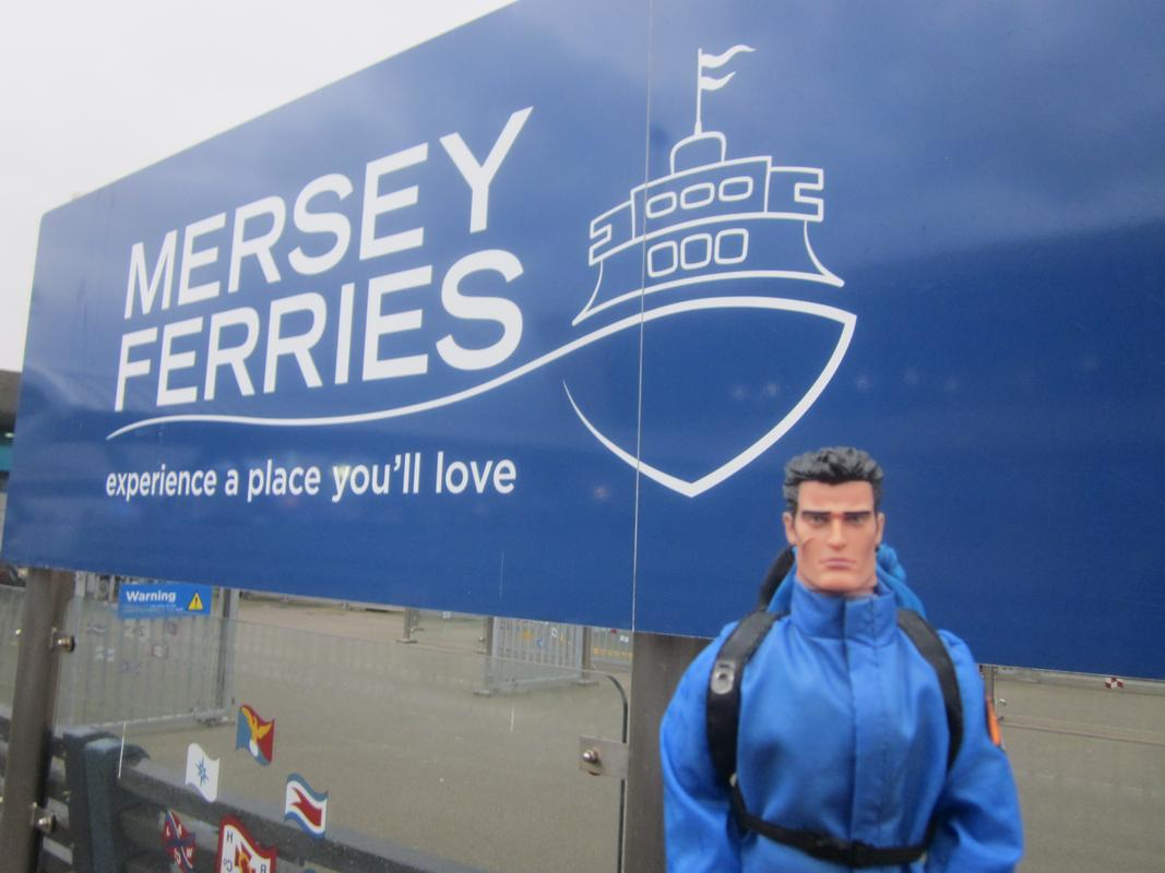 My Action Man on the Mersey Ferry. IMG_5610