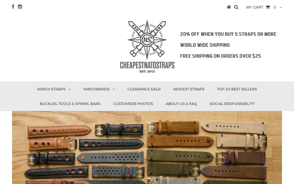 Desconto CheapestNatoStraps.com Cns_dezdez_2018