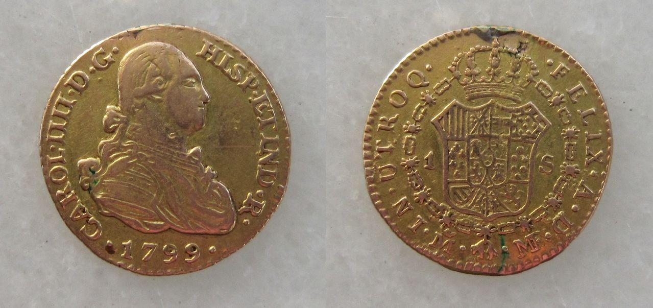 1 escudo 1799. Madrid. Carlos IV 1_escudo_Carlos_IV_1799_Madrid