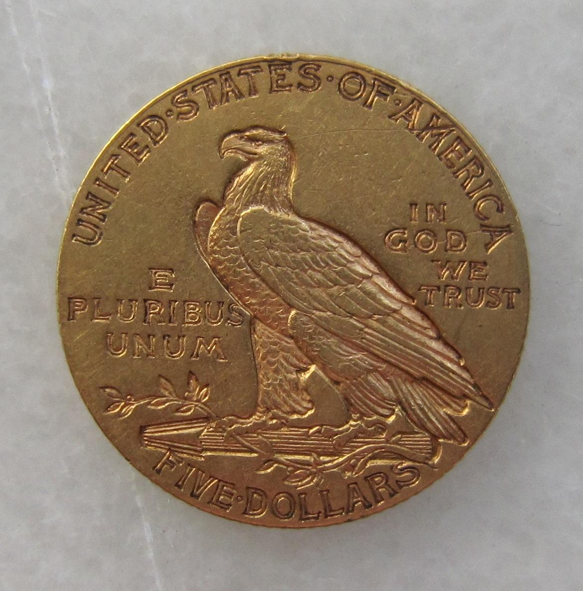 """5 dollars """"Indian Head"""". 1913. Philadelphia. USA 5_d_lares_Philadelphia_1913_EEUU_rev"""