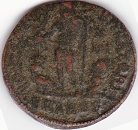 Nummus de 12,5 denarios comunes de Constantino I. IOVI CONSERVATORI. Antioch. IR70_B