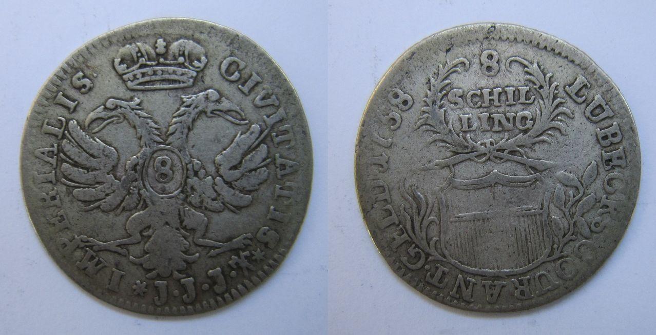 8 schillings 1758. Lubecks 8_Schilling_1758_Lubeck