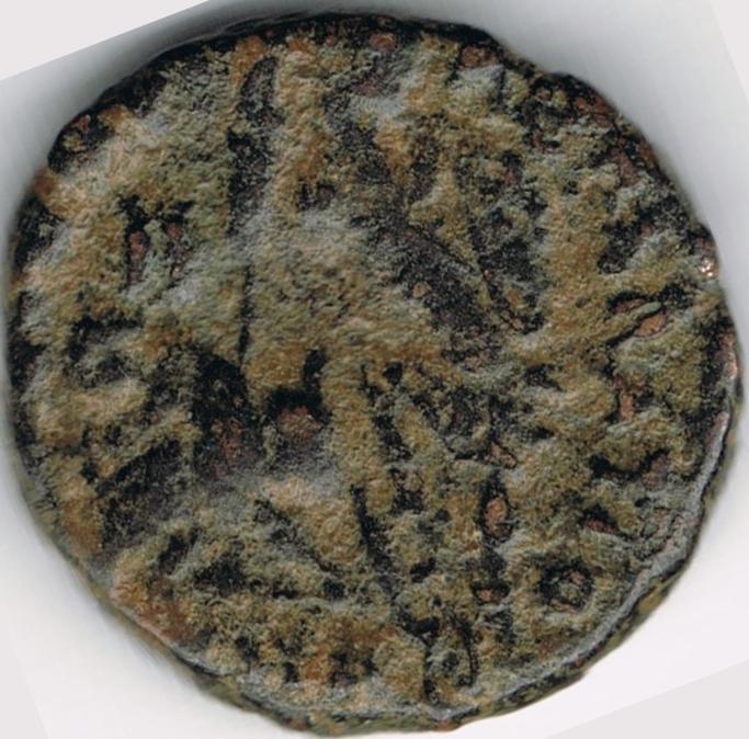 AE4 de Constancio II. FEL TEMP REPARATIO. Soldado romano alaceando a jinete caído.  IR51_B
