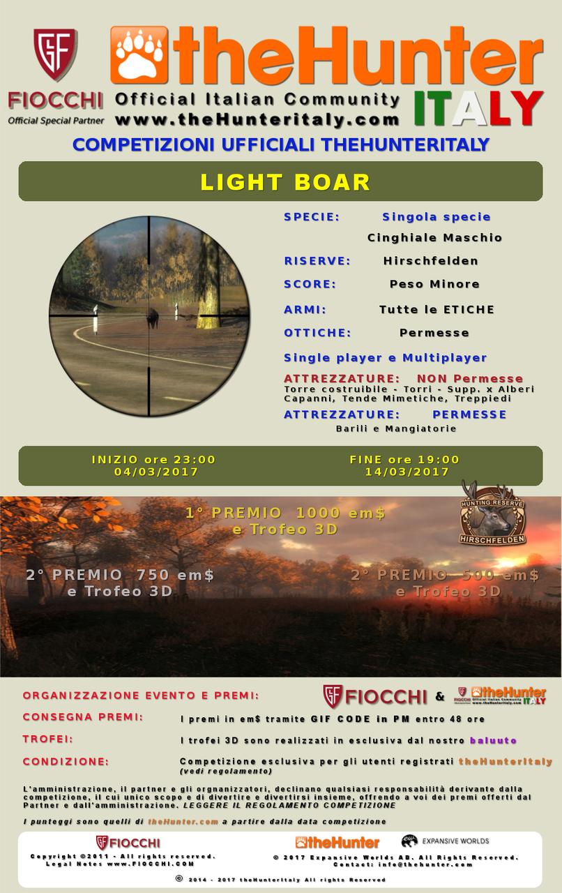 [CONCLUSA] Competizioni ufficiali TheHunteritaly - Light Boar - Cinghiale - LIGHT_BOAR_ombre_finito
