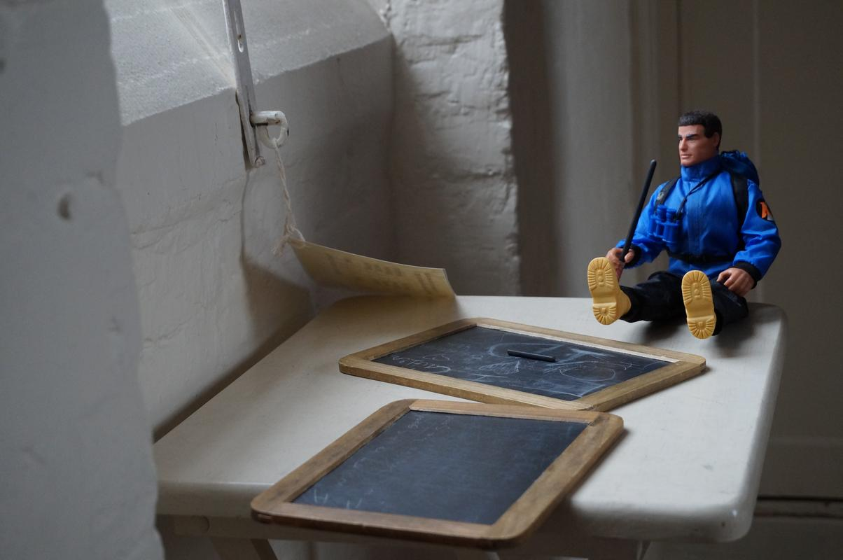 My Modern Action Man visiting  Southwell Workhouse DSC00186