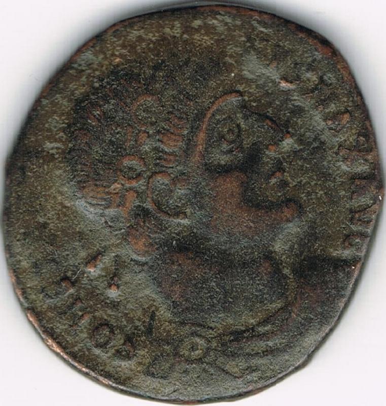 AE3 de Constantino I. GLORIA EXERCITVS. Soldados entre 2 estandartes. Antioquía IR12_A