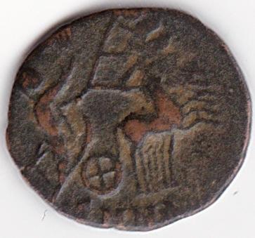 AE4 de consagración de Constantino I. Constantino velado dirigiendo cuadriga. Nicomedia. IR243_B